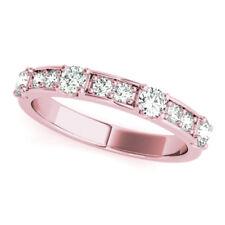 NEW LADIES 14k ROSE GOLD DIAMOND WEDDING BAND FASHION STACKABLE RING