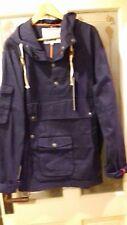 NEW VINTAGE RETRO SMOCK BLUE NAVY JACKET COAT XXL 80S CASUALS VESPA LAMBRETTA