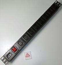 """8 Way Iec C13 PDU con C14 entrada de alimentación para * Desmontable Plomo * 1u 19 """"Montaje En Rack"""