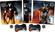 MARVEL AVENGERS ASSEMBLE Xbox SLIM skins Vinyl Stickers Console Pads Controllers
