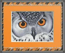 PORTRAIT OF A SNOWY OWL COUNTED CROSS STITCH PATTERN