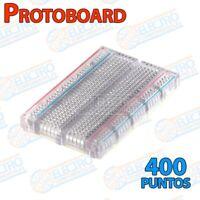 Protoboard 400p enlazable con lineas 400 puntos - TRANSPARENTE - Arduino Electro
