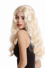Perruque Pour Femme longue ondulées blond clair Crête moyen Diva Starlet Hippie