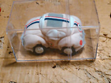 """DISNEY STORE EXCLUSIVE HERBIE THE LOVE BUG 6"""" PLUSH BEAN BAG TOY IN ACRYLIC CASE"""