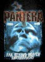 """PANTERA AUFKLEBER / STICKER # 34 """"FAR BEYOND DRIVEN 20th ANNI"""" - 7x5cm"""
