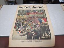 LE PETIT JOURNAL SUPPLEMENT ILLUSTRE N° 1236 1914 paris a dansé joyeusement *