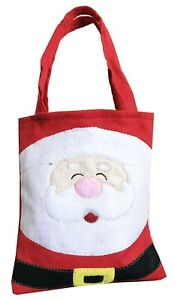 Christmas Party Gift Bag with handles Xmas Santa Kids Children Sweet Candy Felt