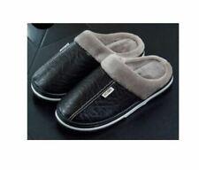 Mens house  Slippers Indoor Moccasin sandals  Waterproof Warm Home Fur Shoes men