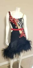 Stunning Latin Ballroom Rhythm Black and Red Dance Competition Dress. Size 2-4