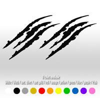 2 pcs 15'' Black Monster Claw Marks Window Hood Body Diecut Vinyl Decal sticker