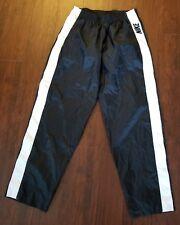 Vtg 90s Nike Tearaway Breakaway Button Nylon Windbreaker Pants Black White sz L
