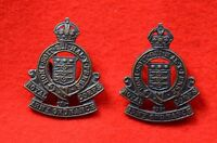 British Army. Royal Army Ordnance Corps Genuine Officer's Collar Badges