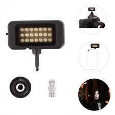 Mini 21 LED Lamp Video Fill Light On-Shoe/3.5mm Jack For DSLR Camera Smart Phone