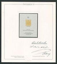 AUSTRIA No. 1 OFFICIAL REPRINT UPU CONGRESS 1984 MEMBERS ONLY !! RARE !! z1217