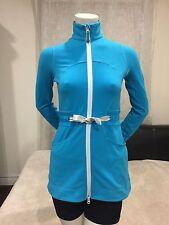 EUC❤ Lululemon Yohari Jacket Skirted Drawstring Waist Snorkel Blue Sz 4