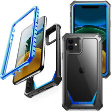 For Apple iPhone 11 Case,Poetic Shock Absorbing Protective Hard Cover Blue