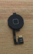 Home Menu Button Flex Cable + Key Cap assembly for iPhone 4 4G (Black)