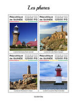 Guinea Lighthouses Stamps 2020 MNH Point of Ayre Lighthouse Architecture 4v M/S