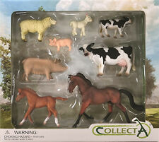 *NEW* CollectA 89696 Farm Life Farmlife 8 Piece Box Set - Cow Sheep Horse Pig