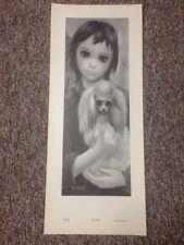 Vintage Margaret Keane Kid With Dog Print Best Friend BIG EYES + Bonus