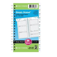 Day-Timer Simply Stated 2021 Two Pg Per Wk Planner Refill, Pocket, 3-3/4