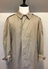 Aquascutum Aqua 5 Single Breasted Brown Tan Khaki Trench Coat Men's 40R