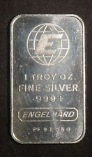 ENGELHARD PORTRAIT 1 OZ .999+ SILVER BAR   ID-EI-09V    SN=FF91414 LOT 111041