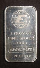 ENGELHARD PORTRAIT 1 OZ .999+ SILVER BAR   ID-EI-09V    SN=FF91414 LOT 111041