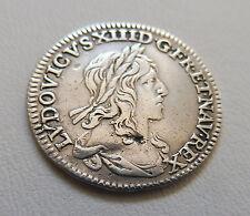 MONNAIE, PIÈCE ARGENT LOUIS XIII-1/2 D'ÉCU DU 1ER POINÇON DE WARIN 1641 A PARIS