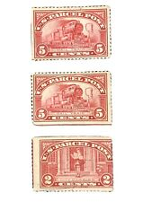 US Parcel Post 1912-13 Stamps x 3 Mail Train & City Carrier