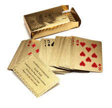 24k 99.9% Genuine Gold Plated Poker Playing Cards Gilded Foil Poker Cards Gift