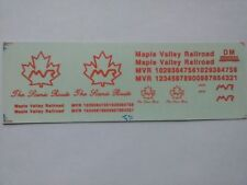 """DM Custom Decals HO Maple Valley Railroad """"The Scenic Route""""  ~TS"""