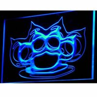 i754-b Brass Knuckles Weapons Beer Bar Neon Light Signs
