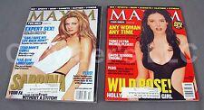 Maxim Magazine Oct 99 Melissa Joan Hart & March 99 Rose McGowan Sex Sports Beer