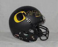 Marcus Mariota Heisman Autographed F/S Oregon Ducks Black Helmet- JSA W Auth