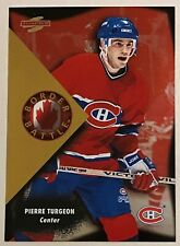 1995-96 PIERRE TURGEON SCORE BORDER BATTLE INSERT #1 OF 10 CANADIENS