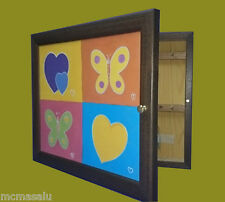 Cuelga llaves Moldura 1 puerta m/ext.27X33X5'7 cm.color Nogal.Wall Mount key box