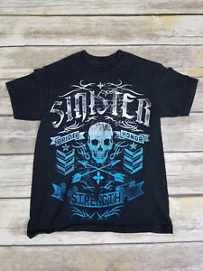 SINISTER Brand Pride Honor Strength Shirt MMA Boy's Size Small S