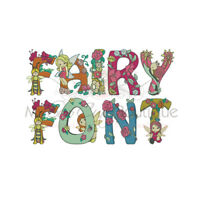 FAIRY ALPHABET FONT MACHINE EMBROIDERY DESIGNS - 3 SIZES - IMPCD184