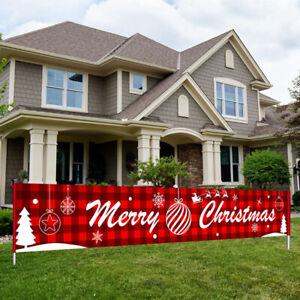 3 M Merry Christmas Banner Santa Claus Ornaments Outdoor Xmas Home Decor Prop