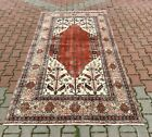 Anatolian Hand Knotted Vintage Carpet Traditional Turkish Vintage Area Rug 5x8ft
