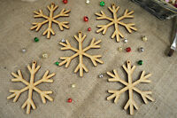 Hanging Christmas Snowflake shape – MDF X5 Ready To Decorate, Tree Decoration