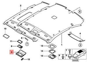 BMW OEM 01-06 325Ci Interior-Roof-Cover 51448233454