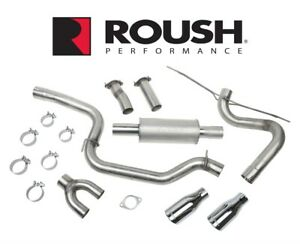 "2013-2018 Ford Focus Roush 3"" High Flow Cat Back Performance Exhaust System"