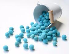 1cm CYAN Felt Balls x50.Wool.Party Decor.Pom poms.Felt Ball.Wholesale.