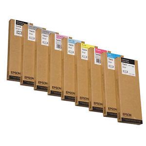 8 x Tinte EPSON Stylus Pro 4800 / T6069 T6067 T6065 T6064 -T6061 T606B T606C SET