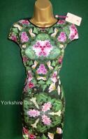 New TED BAKER Green NATURAL KINGDOM Geo FRIYO Stretch Scuba Dress Size 1-Uk 8 10