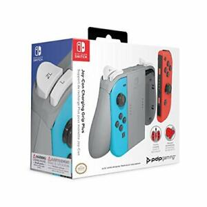 PDP Charging Grip Plus for Joy Con Switch Storm Gray (New)