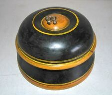 Vintage Collectible Wooden Hand Crafted Box Rare Old Laquer Painted Storage Box