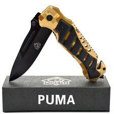 COLTELLI Coltello pieghevole Knife MONOCOMANDO COLTELLO PUMA TEC Coltellino retungsmesser